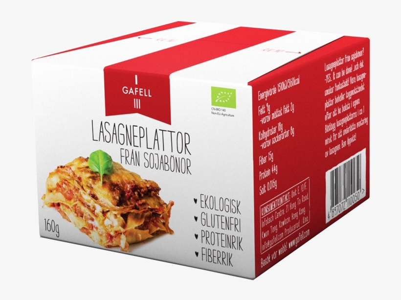 Gafell Lasagna Sheets Made From Soybeans - Gafell Lasagna Sheets From Soybeans, transparent png #1551960