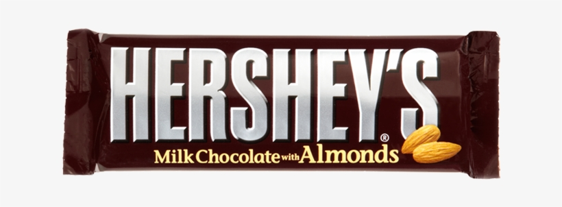 Buy Hershey Milk Chocolate With Almonds At Moo Lolly - Hershey Chocolate Bar, transparent png #1553296