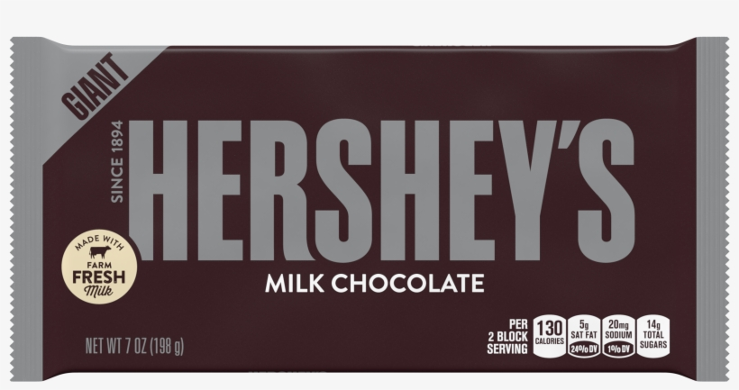 Hershey's, Milk Chocolate Candy Giant Bar, - Hershey Milk Chocolate Price, transparent png #1553699