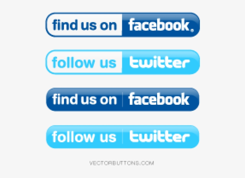 Facebook Logo Veyelp Icon Flat - Find Us On Facebook And Twitter Logos, transparent png #1555398