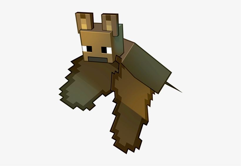 Minecraft Game Art Illustration Minecraft Bat Sitting Png Free