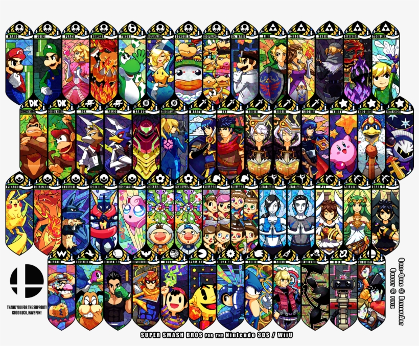 #super Smash Brothers, #video Games, #nintendo, Wallpaper - Super Smash Bros Wii U Personnages, transparent png #1556972