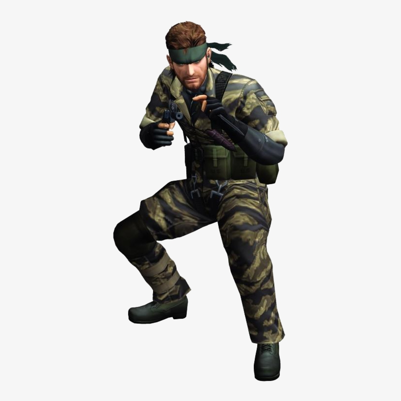 Naked Snake - Snake Metal Gear Png, transparent png #1557675