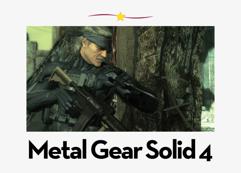 The 12 Best Games For The Playstation - Metal Gear Solid 4, transparent png #1558078