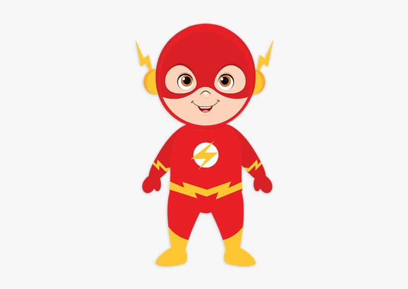 Kid Flash Superhero For Kids - Flash Superhero Clipart, transparent png #1559252