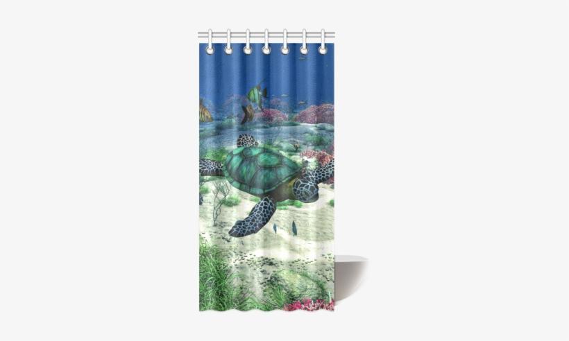 "Sea Turtle Shower Curtain - St Shower Curtain Square Sticker 3"" X 3"", transparent png #1560522"
