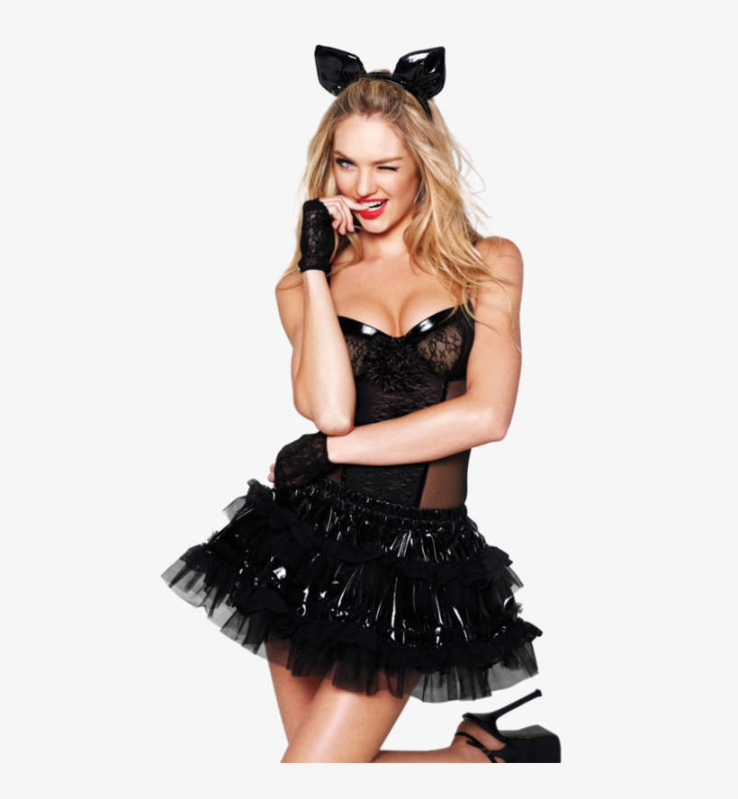 Candice Swanepoel Image - Halloween Cat Dress Up, transparent png #1561145