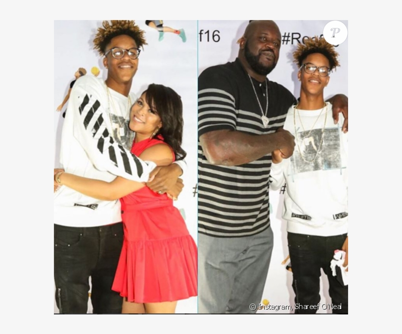 Shareef O'nea Et Ses Parents, Shaquille O'neal Et Shaunie - Shareef O Neal Taille, transparent png #1562605