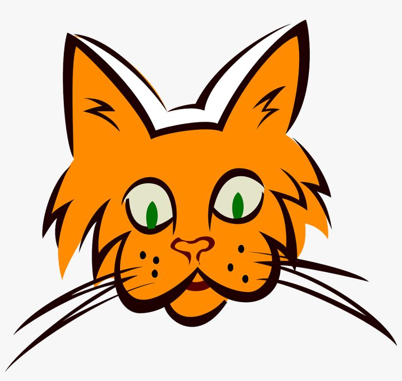 Whiskers Cat, Face, Orange, Art, Ears, Fur, Whiskers - Orange Cat Face (custom) Mugs, transparent png #1563156