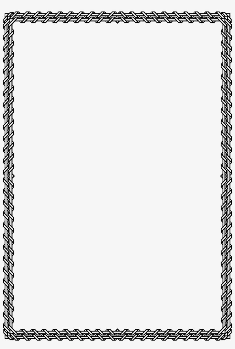 Elegant White Border Png - Frames For A4 Size Paper, transparent png #1563488