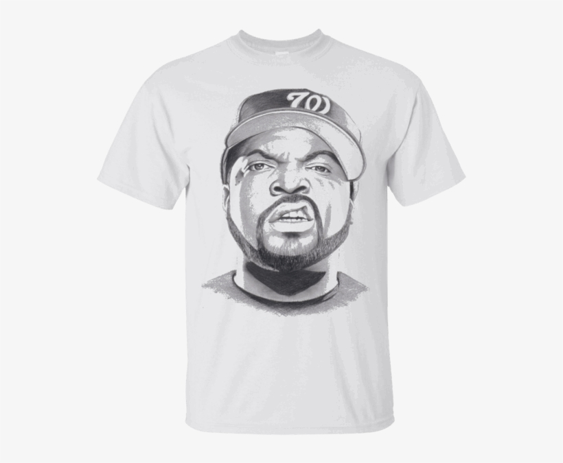 Hi Everybody Ice Cube Drawing T Shirt Https - Dibujos De Ice Cube, transparent png #1564277