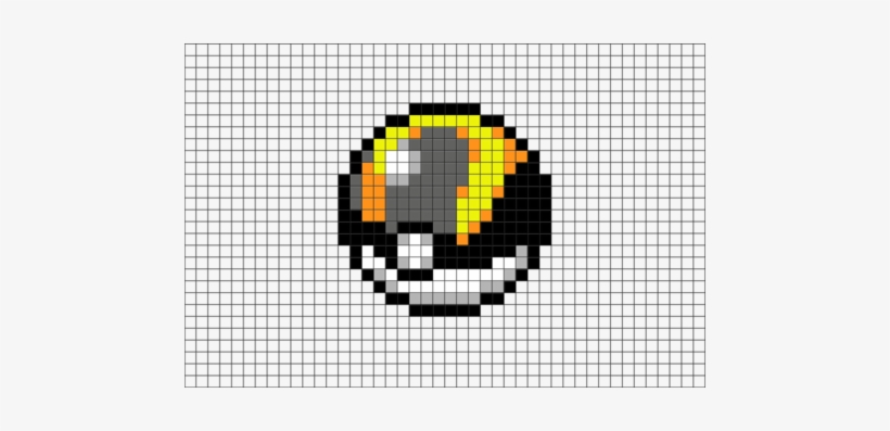 Ultra Ball Pixel Art Pixel Art Pokemon Pokeball Free Transparent
