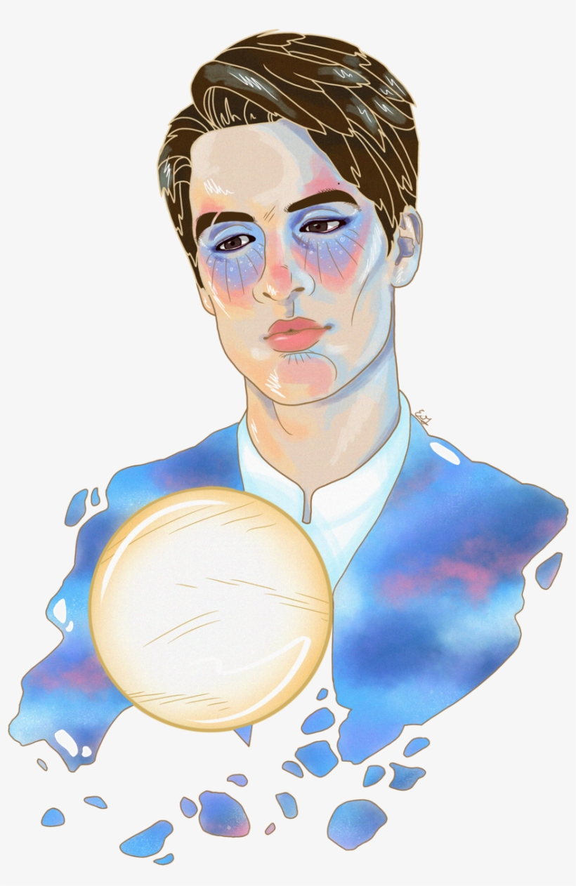 When The Moon Fell In Love With The Sun ☁️ - Panic At The Disco Draws, transparent png #1565628