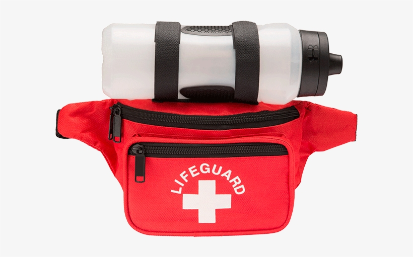 Lifeguard Responder Fanny Pack With Lifeguard And Cross - Lifeguard Hip Pack With Water Bottle, transparent png #1567473