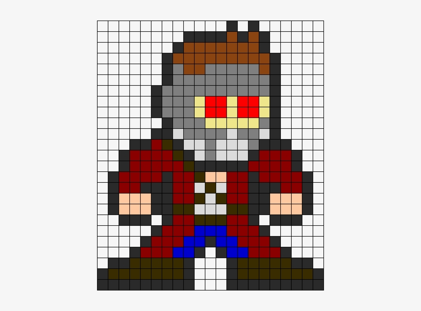 Guardians Of The Galaxy Star Lord Peter Quill Perler Pixel