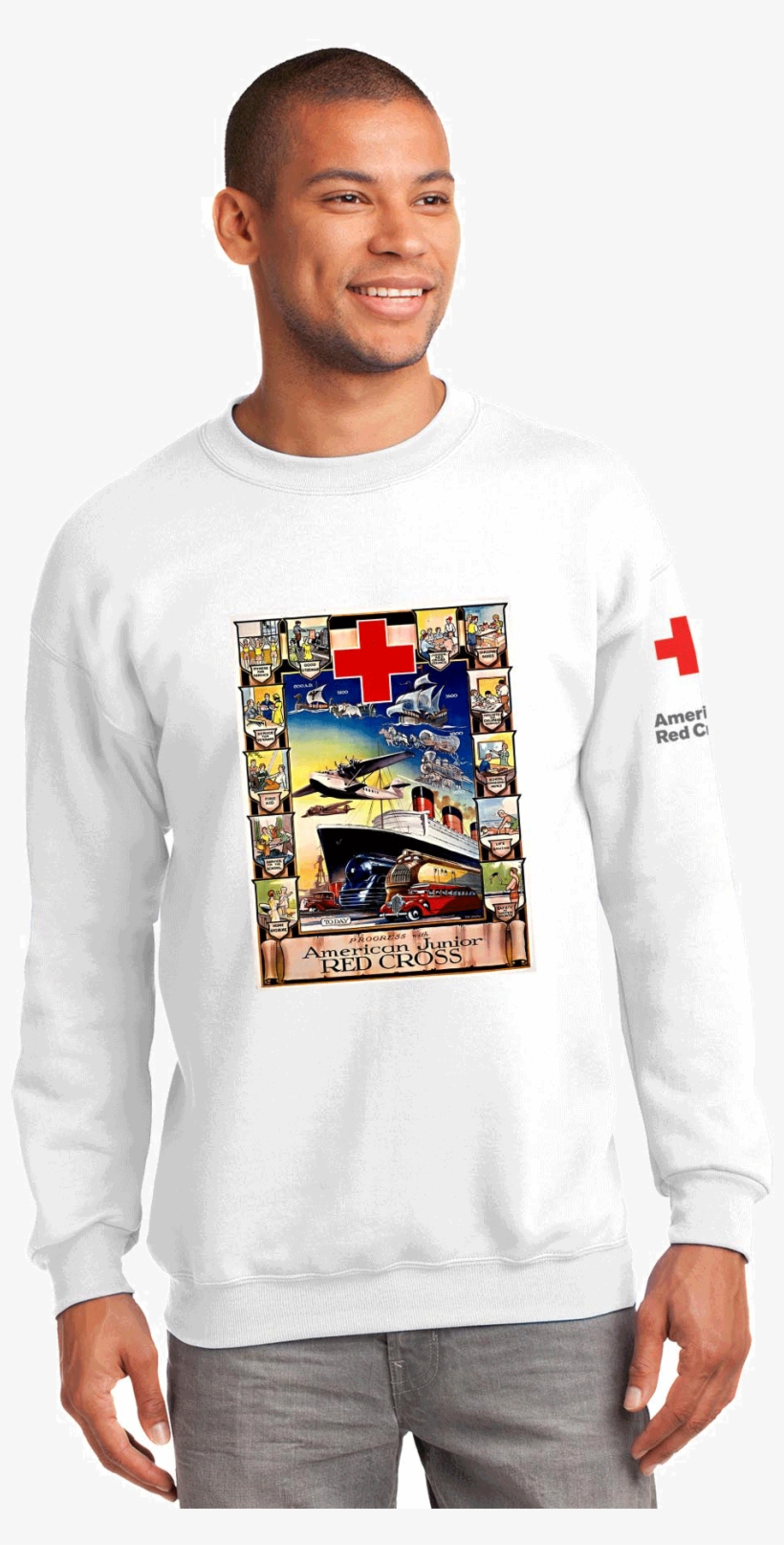 Unisex Crew Neck With American Junior Red Cross Boat - Rolex Crewneck Sweatshirt, transparent png #1568740