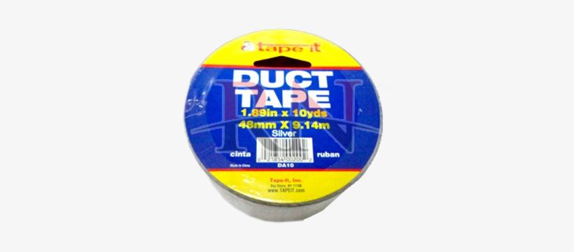 """Tape It - Tape-it D10blk Duct Tape Black 1.89"""" X 10yds, (case, transparent png #1568854"""