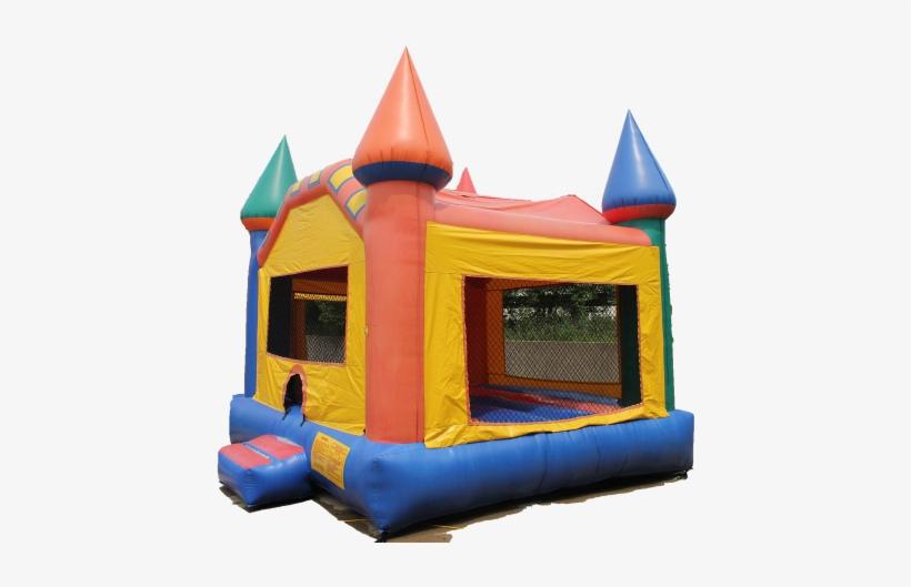 Castle Moonwalk - Castle Bounce House, transparent png #1571466
