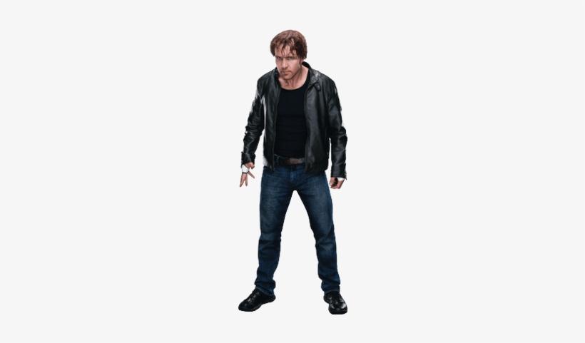 Dean Ambrose Leather Jacket Standing - Wwe Dean Ambrose Png, transparent png #1571709