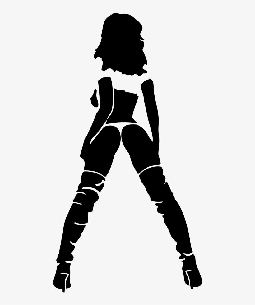 Sexy girl stencil — 8