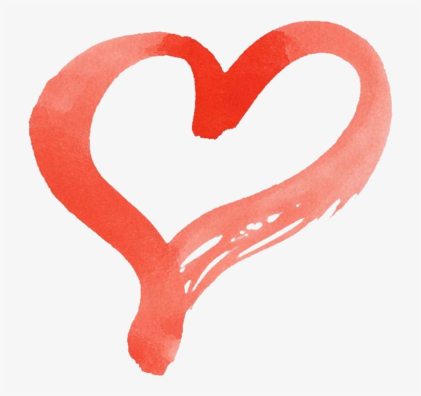 15 Red Watercolor Heart Onlygfx - Watercolor Painting, transparent png #1572730
