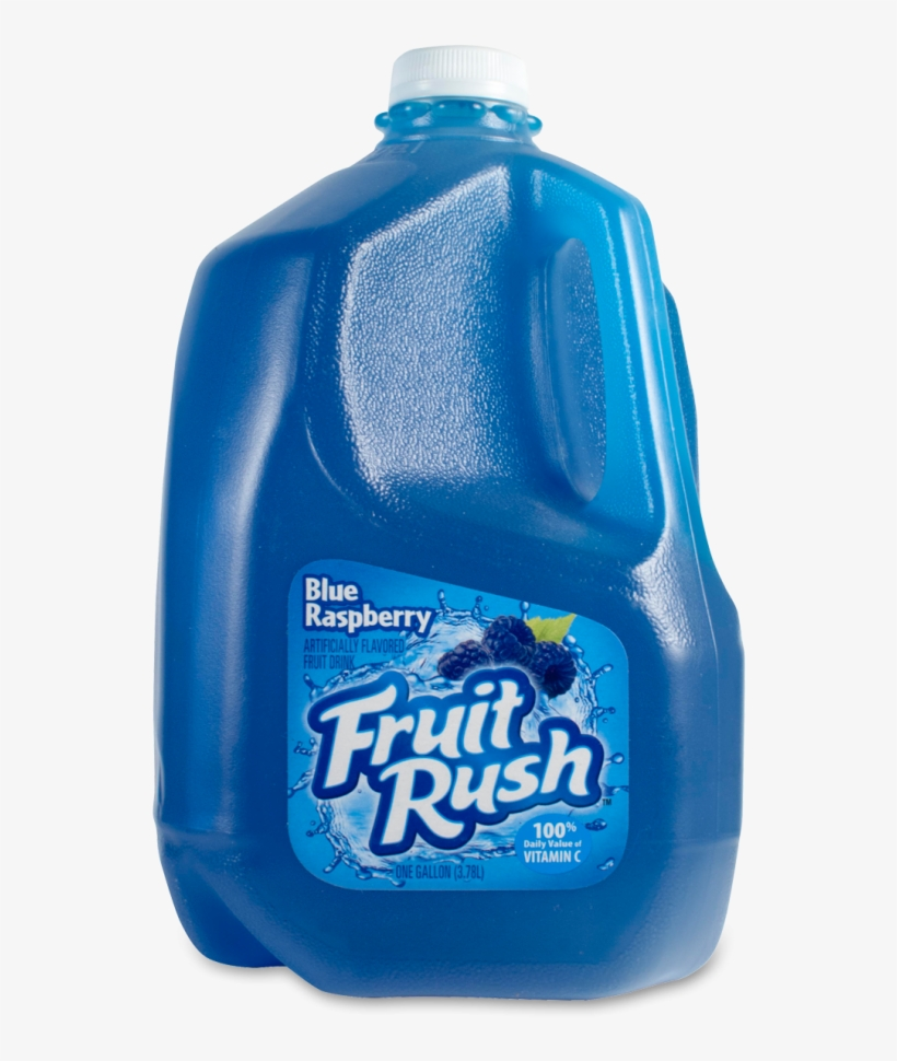 Fruit Rush Blue Raspberry - Fruit Rush Fruit Drink Blue Raspberry, 1.0 Gal, transparent png #1573196