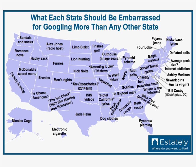 Most Google Searches By State, transparent png #1573495