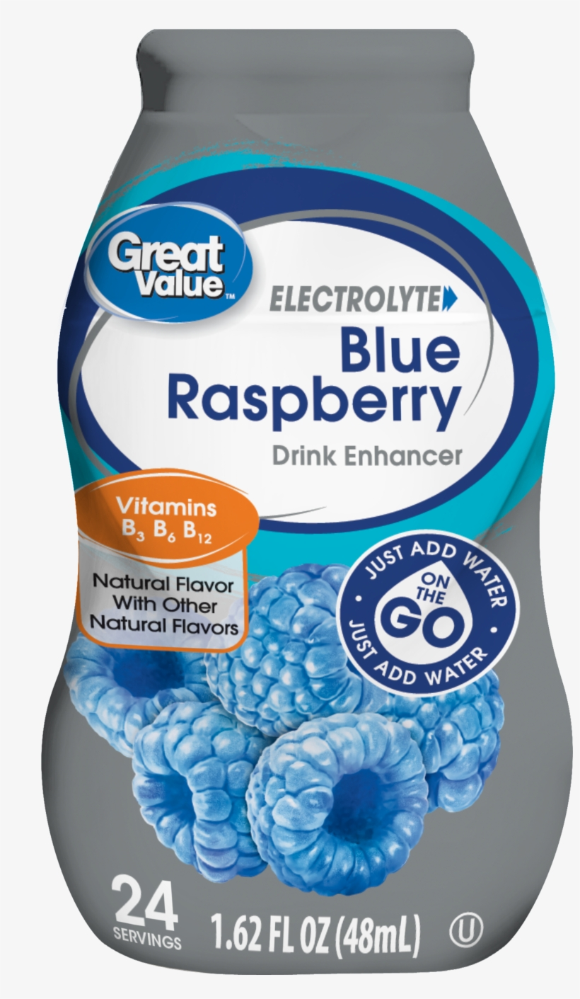 Great Value Electrolyte Drink Enhancer, Blue Rasberry, - Great Value Electrolyte Drink Mix, transparent png #1574245
