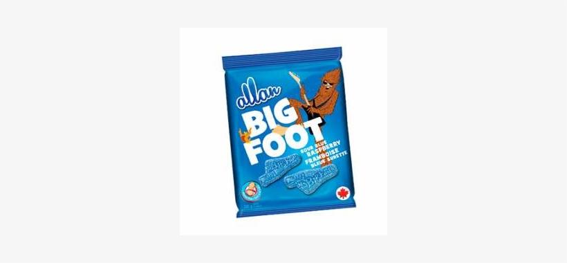 Allan Big Foot Sour Blue Raspberry 200g - Allan Big Foot Sour Blue Raspberry Gummy Candy 5 Oz., transparent png #1574310