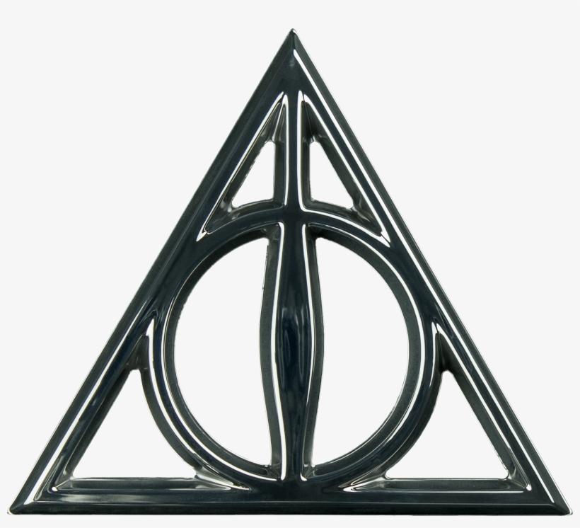 Deathly Hallows Chrome Premium Emblem - Deathly Hallows Symbol, transparent png #1575864