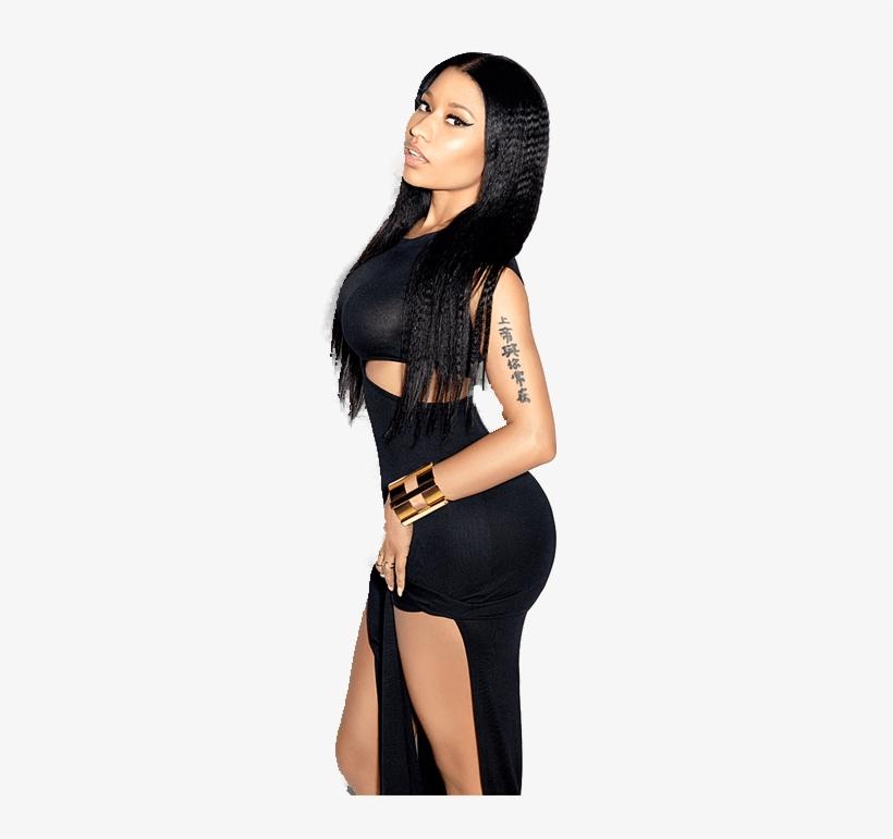 Black Dress Nicki Minaj - Nicki Minaj In Black, transparent png #1576470