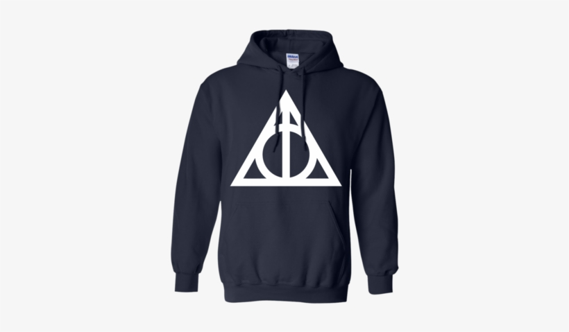 Harry Potter The Deathly Hallows T Shirt Pullover Hoodie - T-shirt, transparent png #1577138