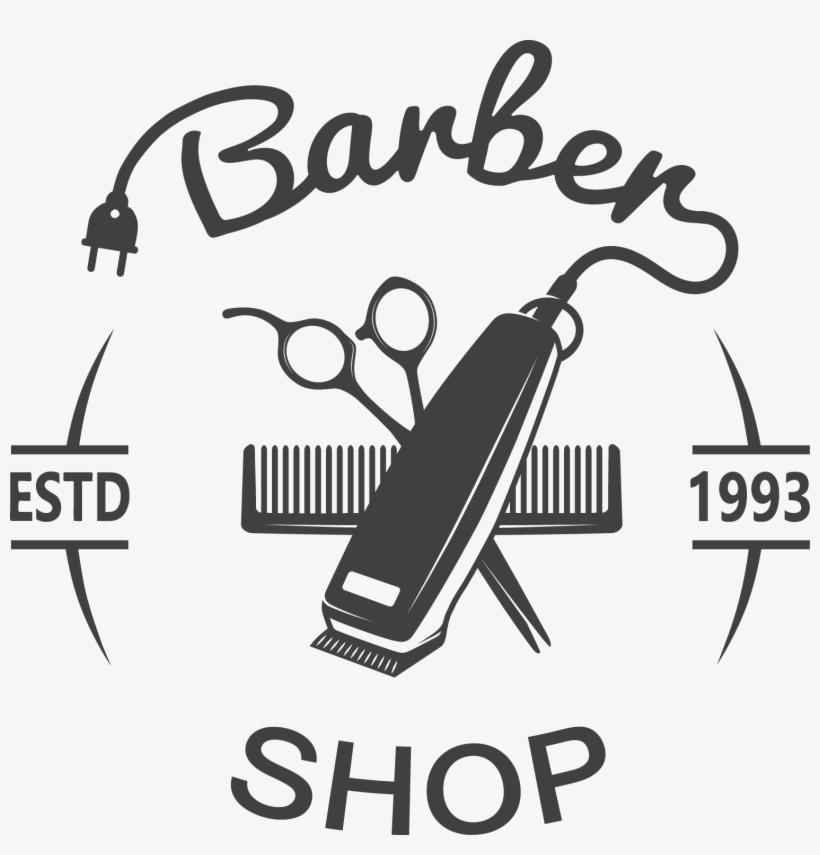Barbershop Vector Clippers Barber Logo Free Transparent Png Download Pngkey