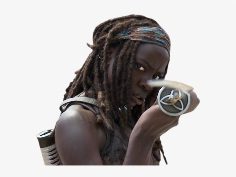 Michonne The Walking Dead Render By Twdmeuvicio On - Michonne The Walking Dead Scenes, transparent png #1579222