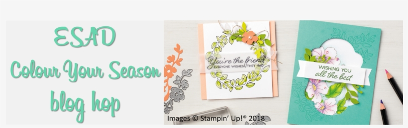 Hi And Welcome To Another Esad Blog Hop - Stampin Up Color Your Season, transparent png #1580328