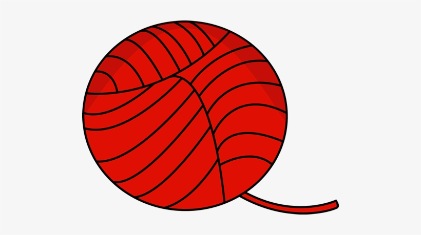 Red Ball Of Yarn Clip Art - Ball Of Yarn Clip Art, transparent png #1580768