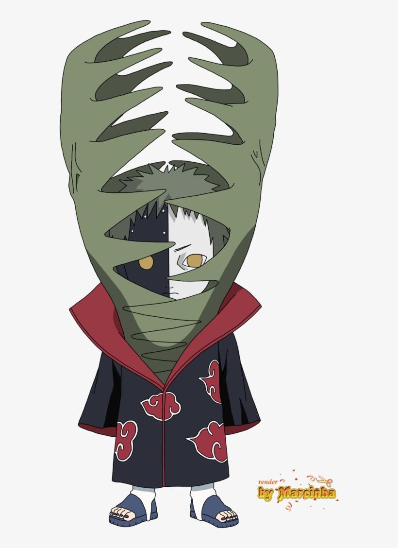 Naruto Pain Clipart Anime Chibi Maker - Naruto Akatsuki Zetsu Chibi, transparent png #1581373