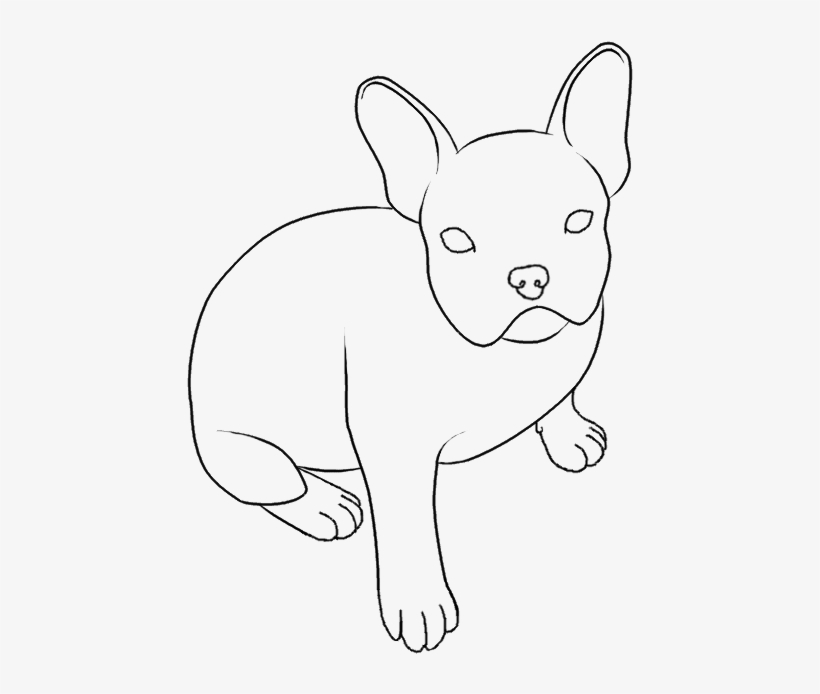 Collection Of French - Easy French Bulldogs To Draw, transparent png #1584065