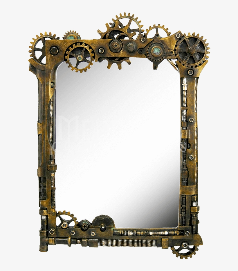 Steampunk Gear Wall Mirror - Steampunk Wall Mirrors, transparent png #1585202