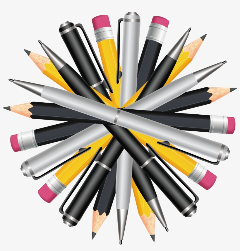 Clip Art Library Download Drawing Gum Marker - Pens And Pencils Png, transparent png #1586485