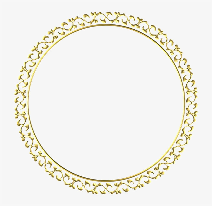 Gold Frame Round Free Image On Pixabay - Oval Rope Outline, transparent png #1587481
