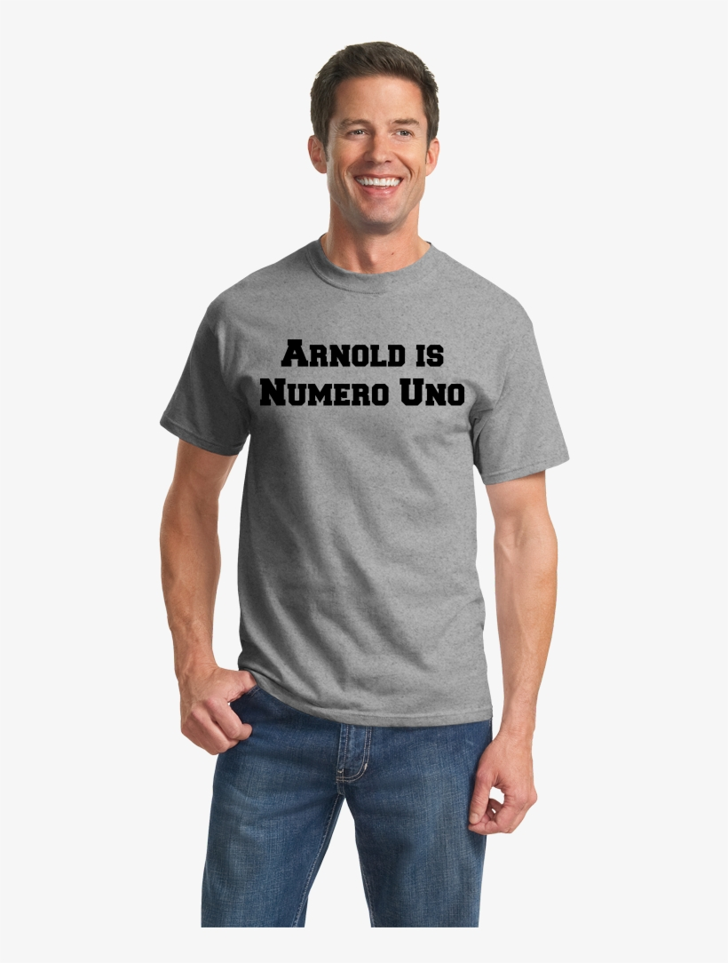Unisex Grey Arnold Is Numero Uno - Port And Company Orange Sherbet, transparent png #1589960
