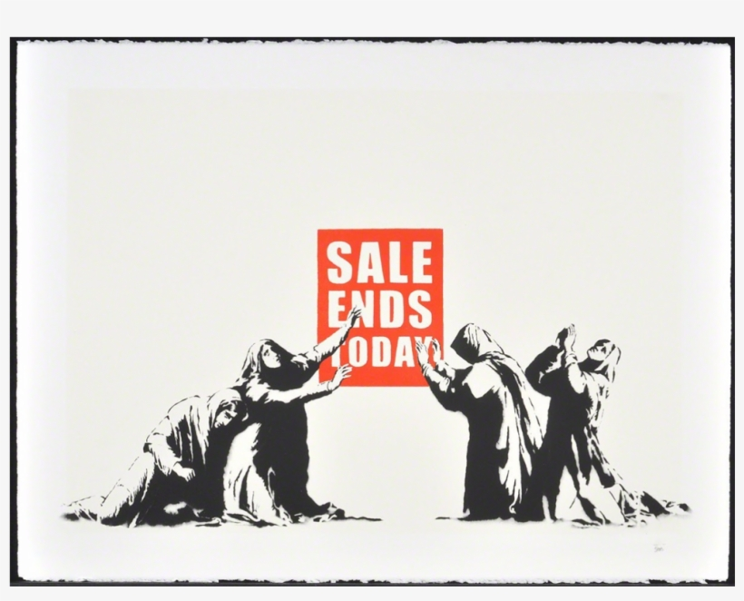 Sale Ends Today By Banksy - Sale Ends Today Canvas Artwork Print By Banksy, transparent png #1590757