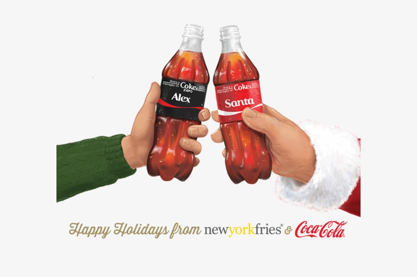 new York Fries] Free Coke Fountain Drink With App - Holiday
