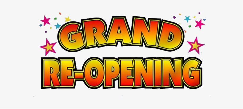 Grand Re Opening Blue - Celebration Grand Re Opening, transparent png #1591317
