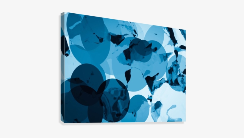 Circle Pattern Abstract With Blue Splash Painting Background - Canvas, transparent png #1592527