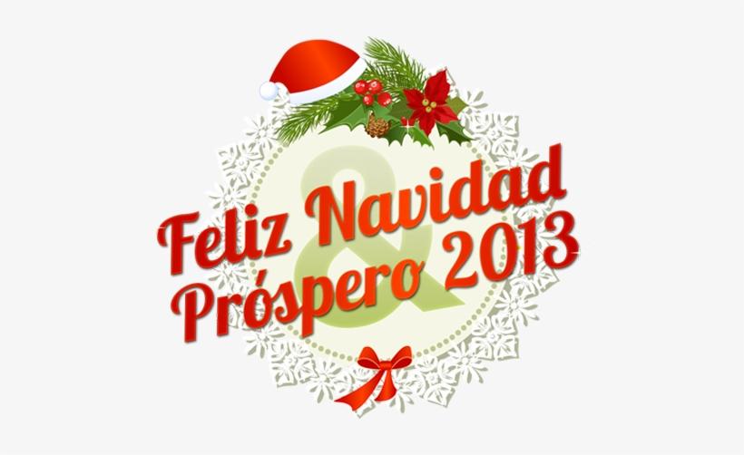 Feliz Navidad & Próspero - Letras Feliz Navidad Y Prospero Año Nuevo Png, transparent png #1594833