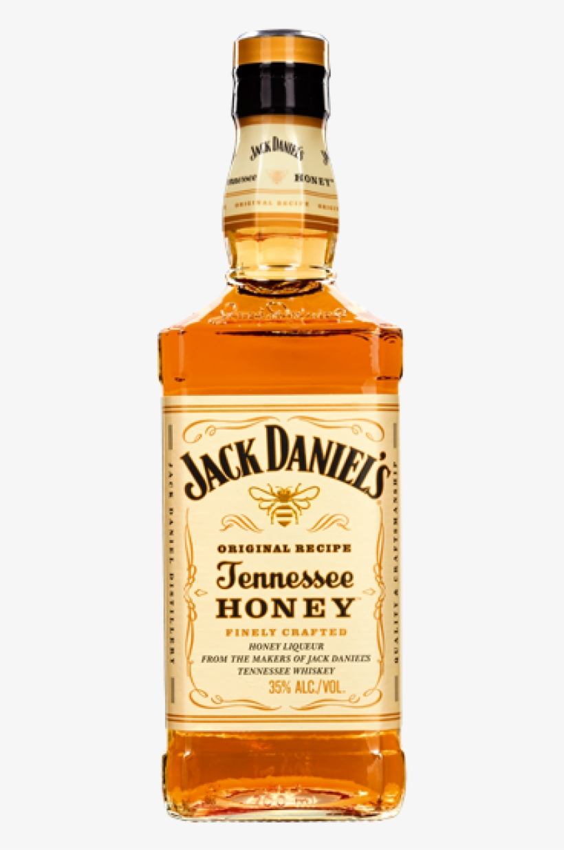 Jack Daniels Tennessee Honey Whiskey 35% Vol - Jack Daniel's Honey Whisky, transparent png #1595419