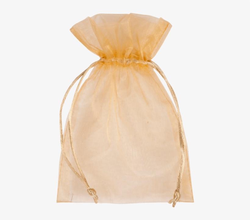 Bag, Gift Bag, Organza, 12x17cm, Gold - Transparent Gift Bag Png, transparent png #1597114