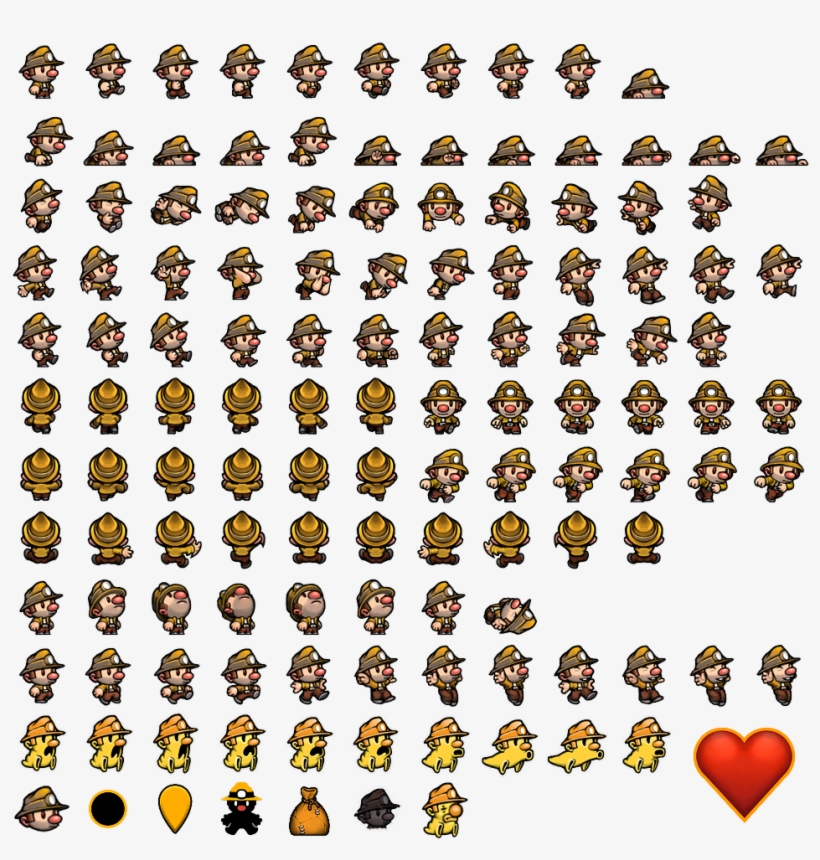 Previous Sheet Spelunky Character Sprite Sheet Free Transparent